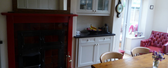 Recently completed kitchen
