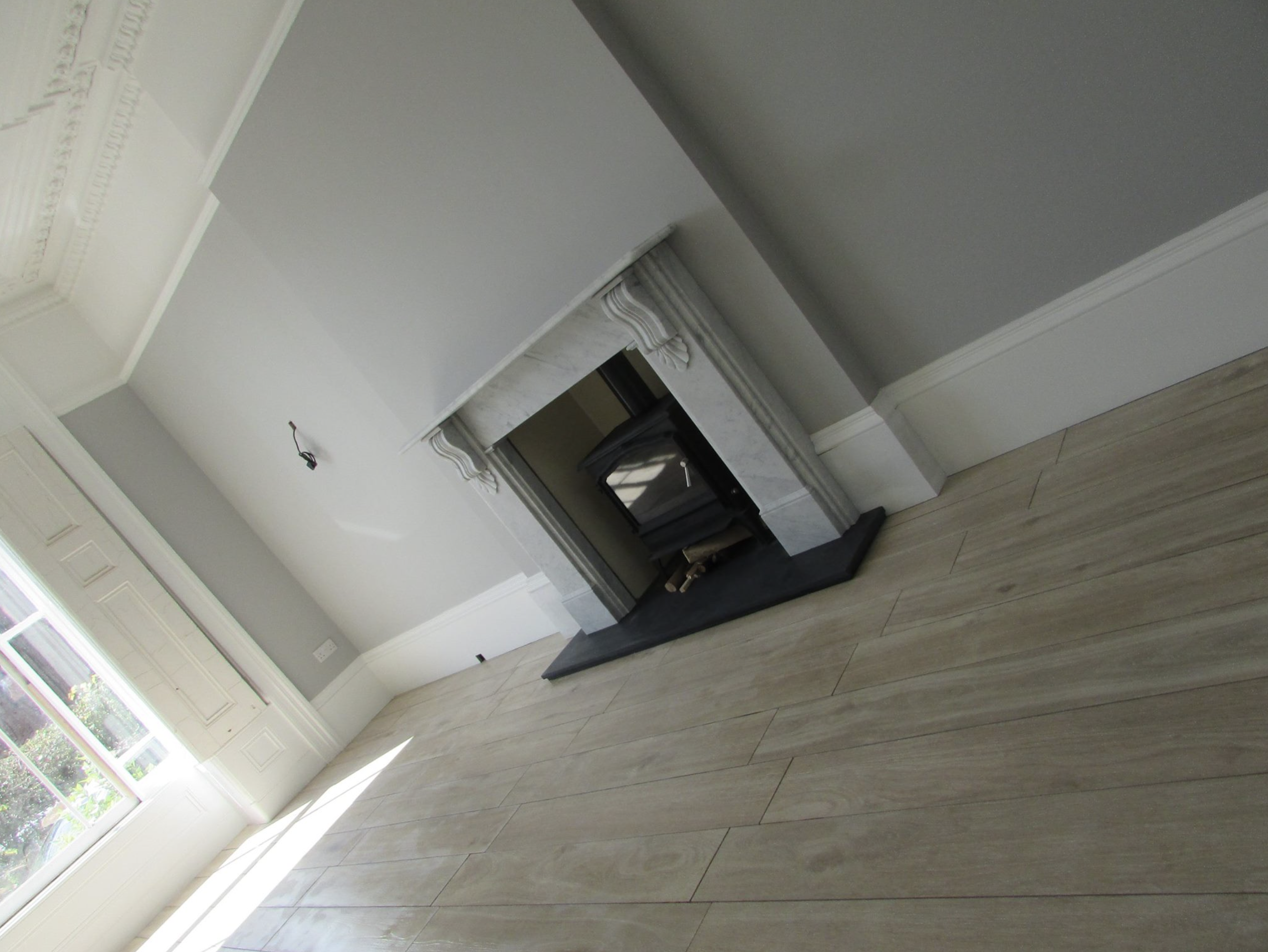 marble fireplace installation